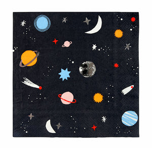 Small Outer Space Napkins | www.bakerspartyshop.com