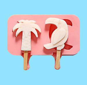 Palm Tree + Tucan Cakesicle Mold | www.bakerspartyshop.com