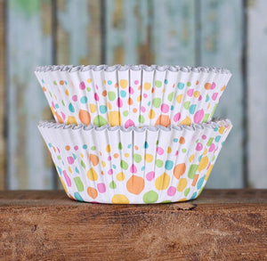 Pastel Rainbow Cupcake Liners: Polka Dots | www.bakerspartyshop.com