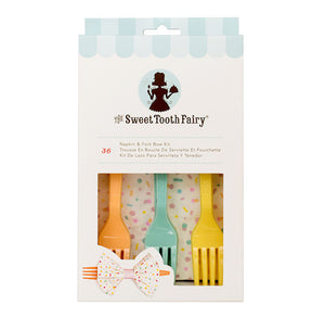 Sweet Tooth Fairy Napkin and Fork Kit: Pastel | www.bakerspartyshop.com