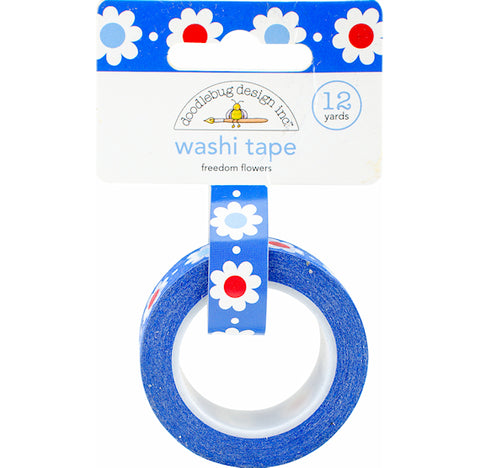 Patriotic Flowers Washi Tape | www.bakerspartyshop.com