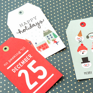 Pebbles Christmas Gift Tags: Merry Little Christmas | www.bakerspartyshop.com