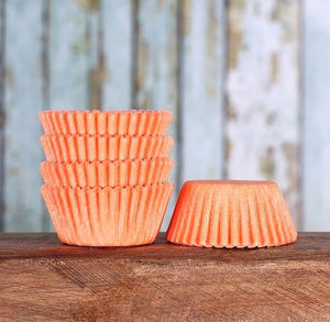 Mini Peach Cupcake Liners: Solid | www.bakerspartyshop.com