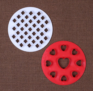 "5"" Pie Crust Cutter Set: Lattice and Heart 