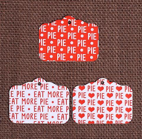 Red Pie Gift Tags | www.bakerspartyshop.com