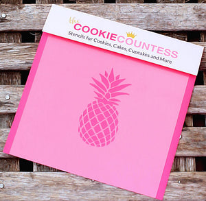 Pineapple Cookie Stencil | www.bakerspartyshop.com