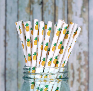 Pineapple Paper Straws | www.bakerspartyshop.com