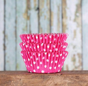 Bulk Pink Cupcake Liners: Polka Dot | www.bakerspartyshop.com