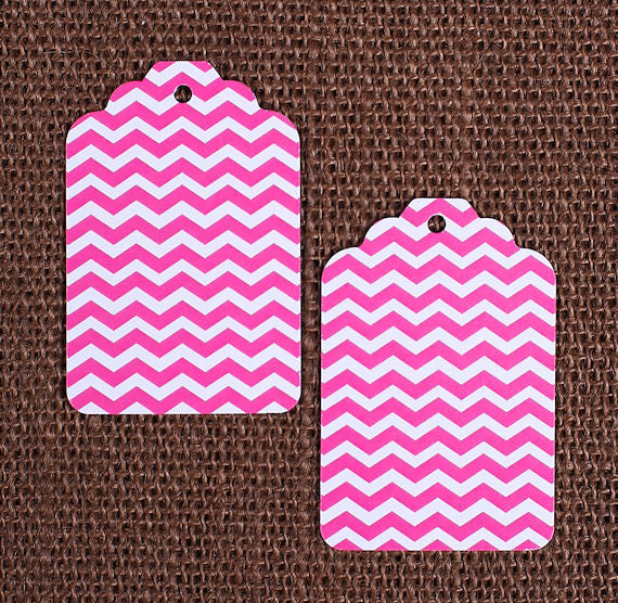 Pink Gift Tags: Chevron | www.bakerspartyshop.com
