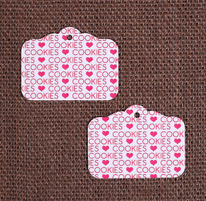 Pink Cookie Gift Tags | www.bakerspartyshop.com