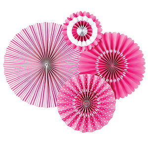 Bright Pink Party Fans | www.bakerspartyshop.com