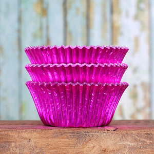 Foil Pink Cupcake Liners | www.bakerspartyshop.com