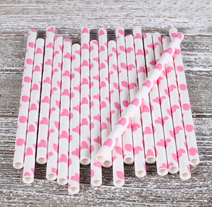 Pink Cake Pop Sticks: Hearts | www.bakerspartyshop.com