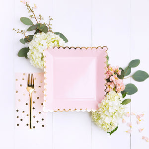 Tall Light Pink Napkins | www.bakerspartyshop.com