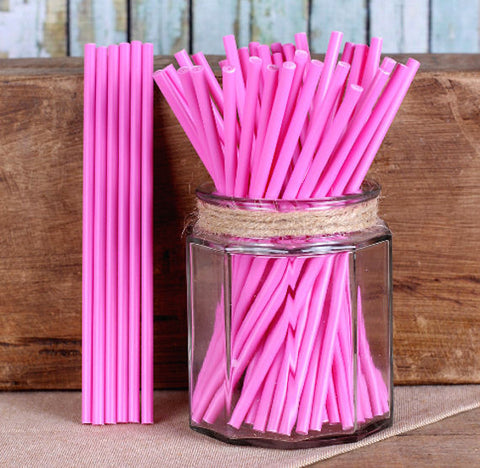 "Pink Lollipop Sticks (6"") 