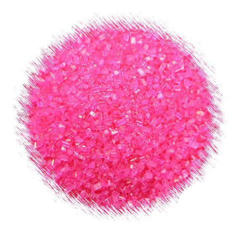 Bright Pink Sparkling Sugar | www.bakerspartyshop.com