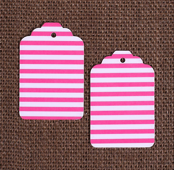 Pink Gift Tags: Stripe | www.bakerspartyshop.com