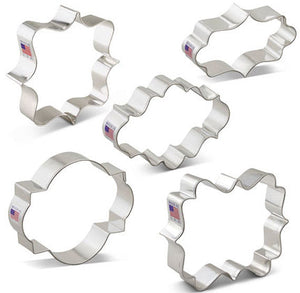 Plaque Cookie Cutters Set | www.bakerspartyshop.com