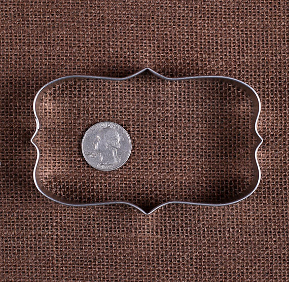 Plaque Rectangle Cookie Cutter | www.bakerspartyshop.com
