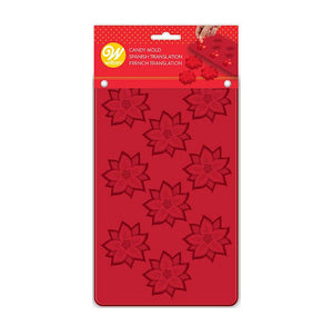 Silicone Christmas Candy Mold: Poinsettia | www.bakerspartyshop.com
