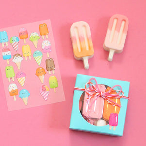 Glossy Summer Sweets Stickers | www.bakerspartyshop.com