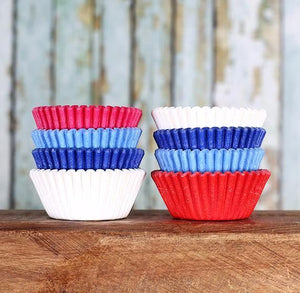 Mini Preppy 4th of July Cupcake Liners | www.bakerspartyshop.com
