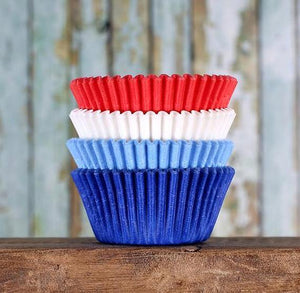 Preppy 4th of July Cupcake Liners: Solid | www.bakerspartyshop.com