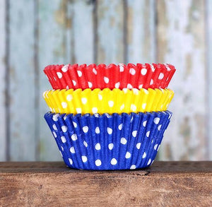 Polka Dot Cupcake Liners: Primary