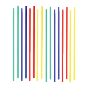"6"" Primary Lollipop Sticks: 4 Color Set"