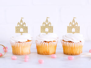 Princess Castle Cupcake Toppers | www.bakerspartyshop.com