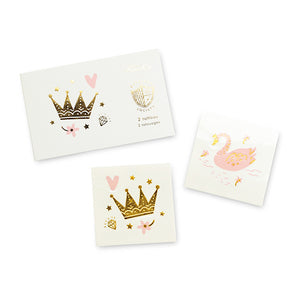 Sweet Princess Temporary Tattoos | www.bakerspartyshop.com