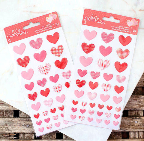 Puffy Heart Stickers | www.bakerspartyshop.com