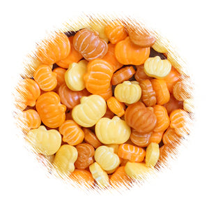 Colored Pumpkin Candy Sprinkles | www.bakerspartyshop.com