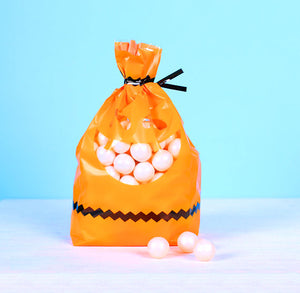 Halloween Cellophane Bag Kit: Pumpkin | www.bakerspartyshop.com