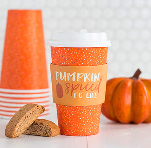 Fall Coffee Cups: Pumpkin Spice | www.bakerspartyshop.com