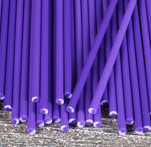 Purple Lollipop Sticks: 6"
