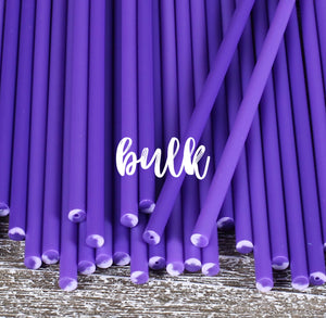 Bulk Purple Lollipop Sticks: 6"