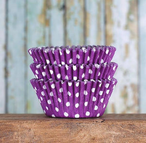 Purple Cupcake Liners: Polka Dot | www.bakerspartyshop.com