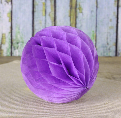 Grape Purple Honeycomb Tissue Balls: 3"