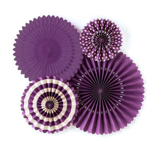 Purple Party Fans | www.bakerspartyshop.com