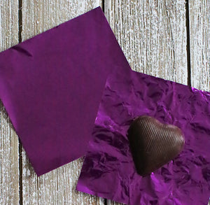 Purple Foil Candy Wrappers | www.bakerspartyshop.com