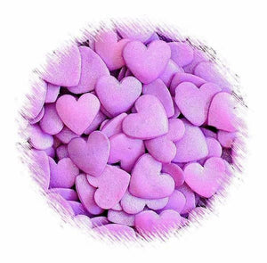Large Purple Heart Sprinkles | www.bakerspartyshop.com