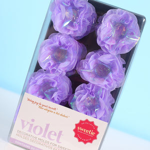 Violet Flower Candy Cups: Pearly Purple | www.bakerspartyshop.com