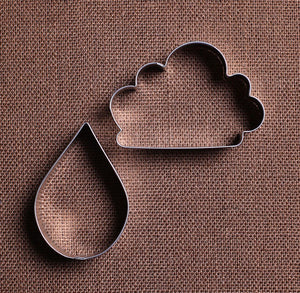 Rain Drop and Cloud Cookie Cutter Set | www.bakerspartyshop.com