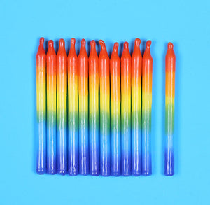 Rainbow Birthday Candles | www.bakerspartyshop.com
