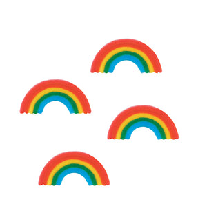 Rainbow Sugar Toppers | www.bakerspartyshop.com