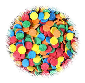 Rainbow Polka Dot Quin Sprinkles | www.bakerspartyshop.com