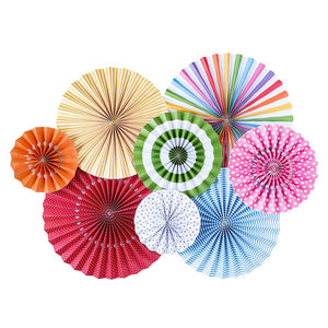 Rainbow Party Fans | www.bakerspartyshop.com