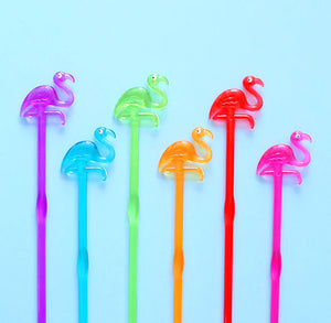 Rainbow Flamingo Stir Sticks | www.bakerspartyshop.com