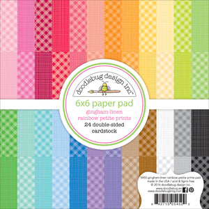 Gingham-Linen Rainbow Paper Pad | www.bakerspartyshop.com